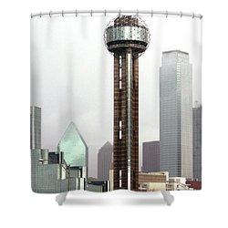 Lifting Fog On Dallas Texas Shower Curtain by Robert Frederick