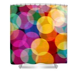 Light Abstract Shower Curtain by Tony Cordoza