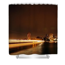 Light Across The Bay Shower Curtain by Justin Woodhouse