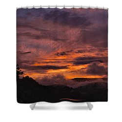 Light And Color Show Shower Curtain