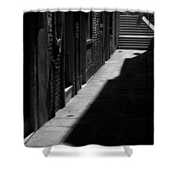 Shower Curtain featuring the photograph Light And Shadow - Venice by Lisa Parrish