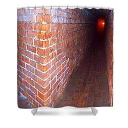 Shower Curtain featuring the photograph Light At The End Of The Tunnel Fort Pickens Florida by Jennifer Muller