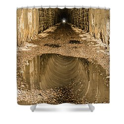 Light At The End Of The Tunnel Shower Curtain by Sue Smith