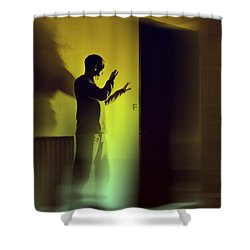 Shower Curtain featuring the photograph Light Behind Door by Craig B