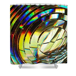 Light Color 1 Prism Rainbow Glass Abstract By Jan Marvin Studios Shower Curtain