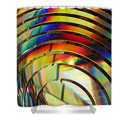 Light Color 2 Prism Rainbow Glass Abstract By Jan Marvin Studios Shower Curtain