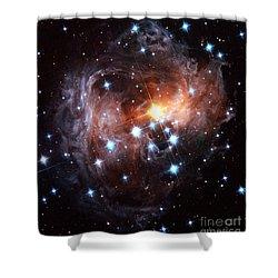 Light Echo Around Star V838 Monocerotis Shower Curtain by Science Source