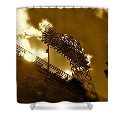 Shower Curtain featuring the photograph Light  Fenway Park by Iconic Images Art Gallery David Pucciarelli