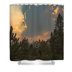 Light From Heaven Shower Curtain by Robert Bales