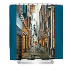Light From San Salvador Merceria Del Capitello San Marco Venezia Shower Curtain