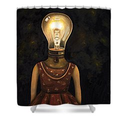 Light Headed Shower Curtain