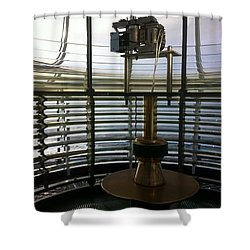 Shower Curtain featuring the photograph Light House Lamp by Susan Garren