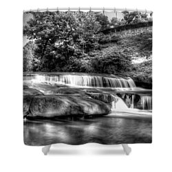 Light In Black And White Shower Curtain