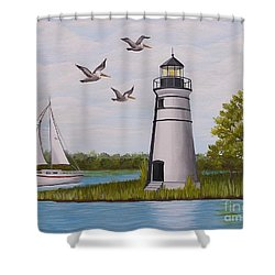 Light  In Madisonville Shower Curtain