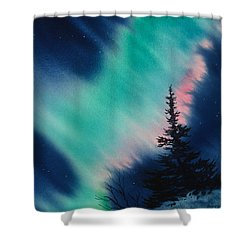Light In The Dark Of Night Shower Curtain
