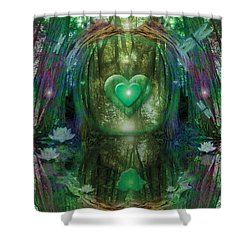 Light In The Forest Shower Curtain by Alixandra Mullins