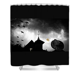 Light In The Window Shower Curtain by Bob Orsillo
