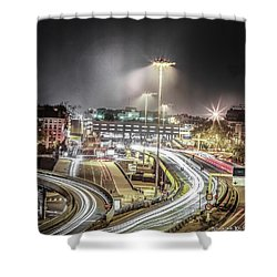 Shower Curtain featuring the photograph Light Moves by Stwayne Keubrick