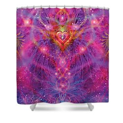Light Of Passion Reborn Shower Curtain by Alixandra Mullins