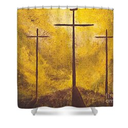 Light Of Salvation Shower Curtain by Wayne Cantrell