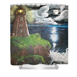 Shower Curtain featuring the painting Light Of The Moon by Sharon Duguay