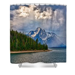 Light On Moran Shower Curtain