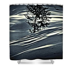 Shower Curtain featuring the photograph Light On The Snow by Janie Johnson