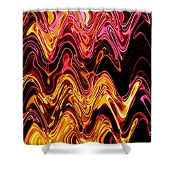 Light Painting 5 Shower Curtain by Delphimages Photo Creations