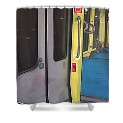 Light Rail Shower Curtain by Jude Labuszewski