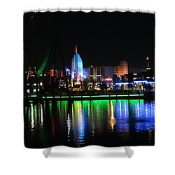 Light Reflections At Night Shower Curtain
