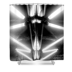 Light Sabers Shower Curtain by James Aiken