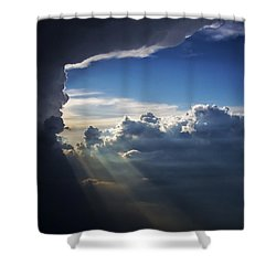 Light Shafts From Thunderstorm II Shower Curtain
