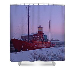 Shower Curtain featuring the photograph Light Ship by John Williams