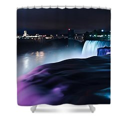 Shower Curtain featuring the photograph Light Show by Mihai Andritoiu
