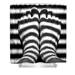 Light Socks Shower Curtain
