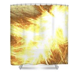 Shower Curtain featuring the digital art Light Spark by Kim Sy Ok