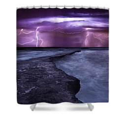 Light Symphony Shower Curtain by Jorge Maia