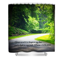 Light To My Path Shower Curtain