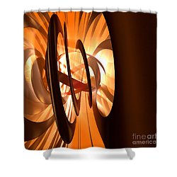 Light Transference Shower Curtain by Peter R Nicholls