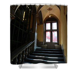 Lighted Stairs Shower Curtain