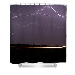 Shower Curtain featuring the photograph Lightening Bolts by Charles Beeler