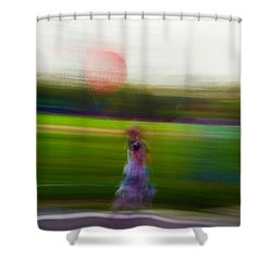 Shower Curtain featuring the photograph Lighter Than Air by Alex Lapidus