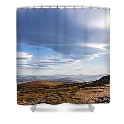 Lightfall On Djouce Mountain Summit Shower Curtain