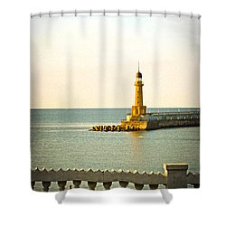 Lighthouse - Alexandria Egypt Shower Curtain