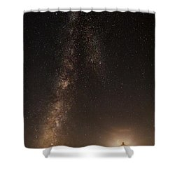 Lighthouse And Milky Way Shower Curtain