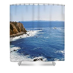 Lighthouse At A Coast, Point Vicente Shower Curtain