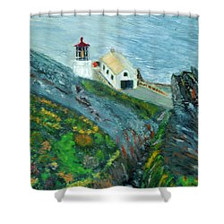 Lighthouse At Point Reyes California Shower Curtain