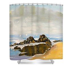 Lighthouse Beach Shower Curtain