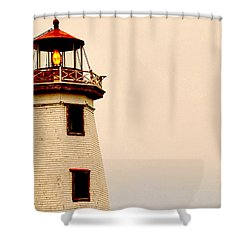 Lighthouse Beam Shower Curtain