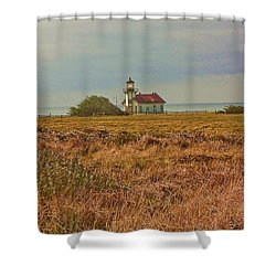 Shower Curtain featuring the photograph Lighthouse by Brian Williamson